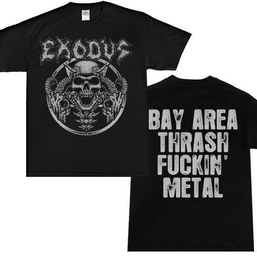 Exodus / エクソダス - Horns skull. Tシャツ【お取寄せ】