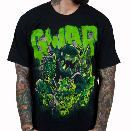 Gwar / グワァー - Destroyers (Black x Green). Tシャツ【お取寄せ】