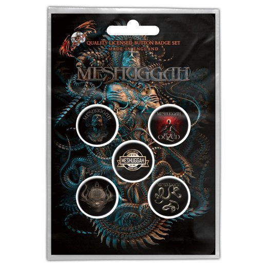 Meshuggah / メシュガー - Violent sleep of reason. バッジセット【お取寄せ】
