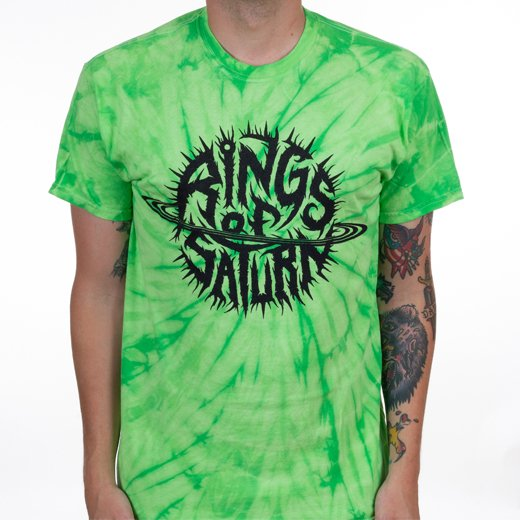 Rings Of Saturn / リングス・オブ・サターン - Alien Green Tie Dye Logo. Tシャツ【お取寄せ】