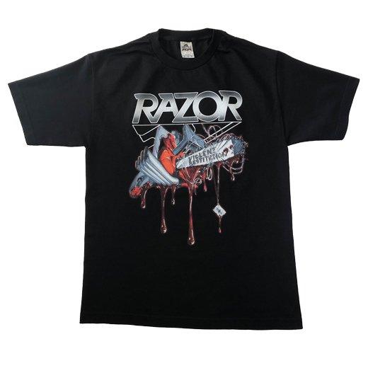 【即納商品】Razor / レイザー - Violent Restitution. Tシャツ(Mサイズ)