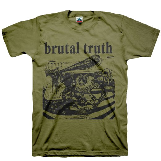 【即納商品】Brutal Truth / ブルータル・トゥルース - Kill Pig (Olive). Tシャツ(Sサイズ)