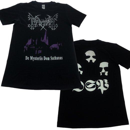 【即納商品】Mayhem / メイヘム - De Mysteriis Dom Sathanas. Tシャツ(Lサイズ)