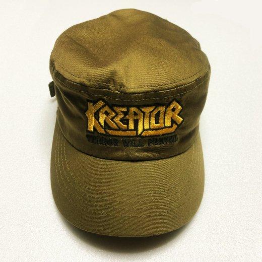 【即納商品】Kreator / クリエイター - Terror Will Prevail. アーミーキャップ(フリーサイズ)