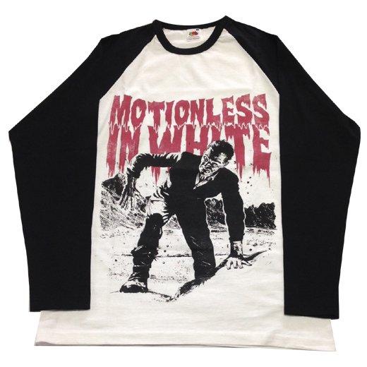 【即納商品】Motionless In White / モーションレス・イン・ホワイト - Frank. ベースボールシャツ (Mサイズ)