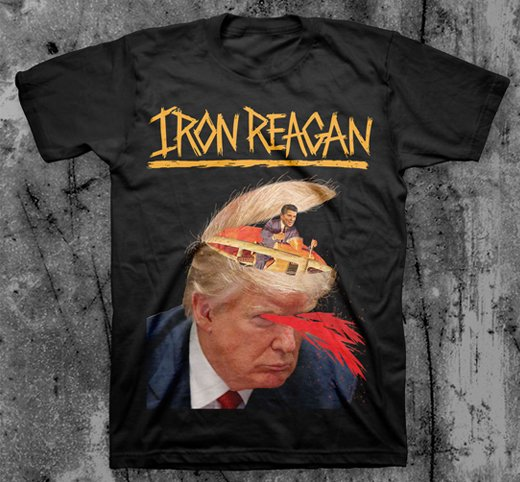 <img class='new_mark_img1' src='https://img.shop-pro.jp/img/new/icons1.gif' style='border:none;display:inline;margin:0px;padding:0px;width:auto;' />Iron Reagan / アイアン・レーガン - Trumpy. Tシャツ【お取寄せ】