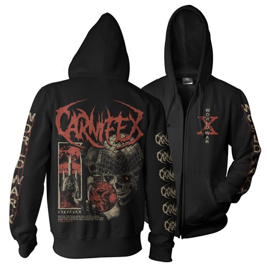<img class='new_mark_img1' src='https://img.shop-pro.jp/img/new/icons61.gif' style='border:none;display:inline;margin:0px;padding:0px;width:auto;' />Carnifex / カーニフェックス - Flames Of The Sun. ジップアップパーカー【お取寄せ】