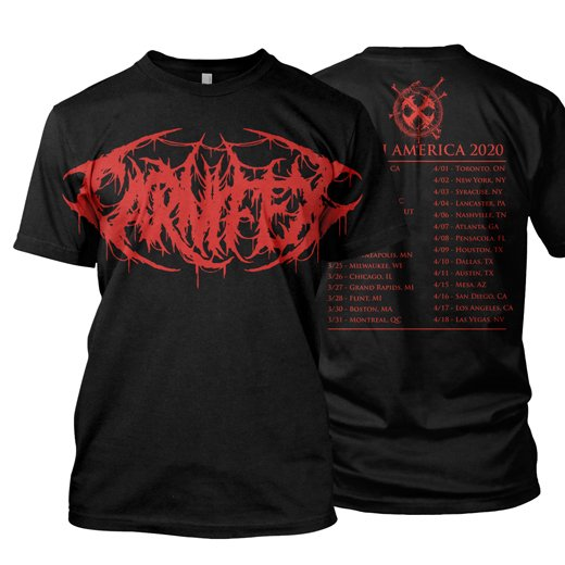 <img class='new_mark_img1' src='https://img.shop-pro.jp/img/new/icons1.gif' style='border:none;display:inline;margin:0px;padding:0px;width:auto;' />Carnifex / カーニフェックス - North America 2020. Tシャツ【お取寄せ】