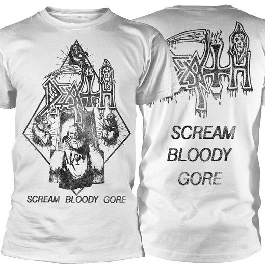 <img class='new_mark_img1' src='https://img.shop-pro.jp/img/new/icons1.gif' style='border:none;display:inline;margin:0px;padding:0px;width:auto;' />Death / デス - Scream Bloody Gore (Light Ray) - Vintage wash. Tシャツ【お取寄せ】