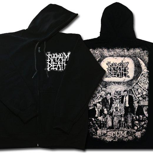 Napalm Death / ナパーム・デス - Scum Vintage. ジップアップパーカー【お取寄せ】