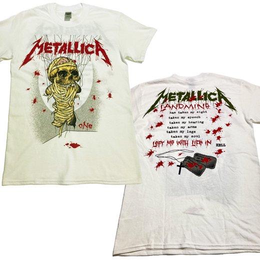 <img class='new_mark_img1' src='https://img.shop-pro.jp/img/new/icons1.gif' style='border:none;display:inline;margin:0px;padding:0px;width:auto;' />【即納商品】Metallica / メタリカ - One Landmine(White). Tシャツ(Lサイズ)