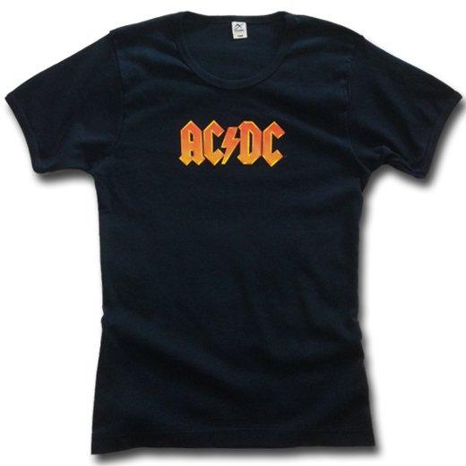 【即納商品】AC/DC / エーシー・ディーシー - Logo. レディースTシャツ (Lサイズ )