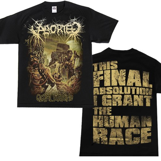 Aborted / アボーテッド - Global Flatline. Tシャツ【お取寄せ】