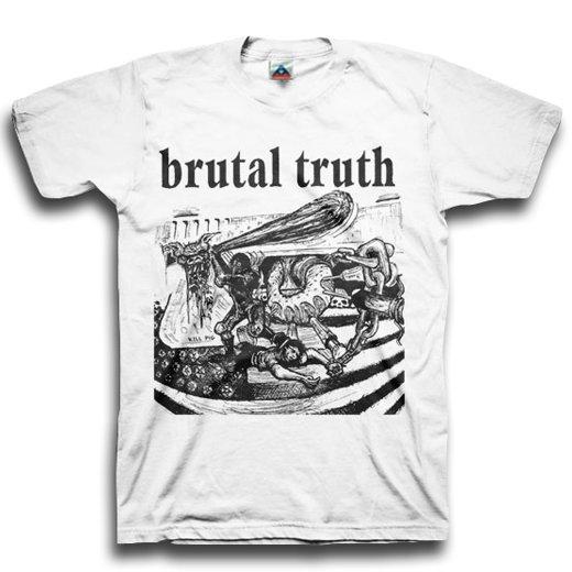 【お取寄せ】Brutal Truth / ブルータル・トゥルース - Kill Pig (White). Tシャツ