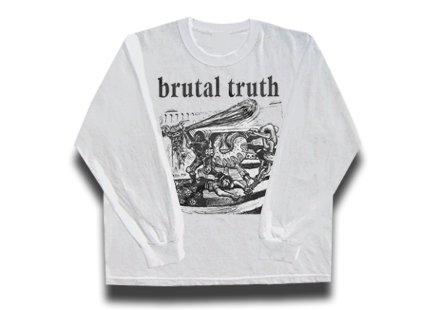 【お取寄せ】Brutal Truth / ブルータル・トゥルース - Kill Pig (White). ロングスリーブTシャツ