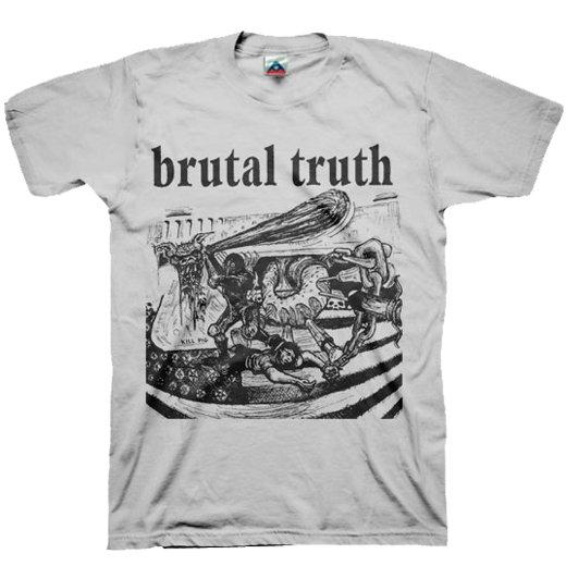 【お取寄せ】Brutal Truth / ブルータル・トゥルース - Kill Pig (Silver). Tシャツ