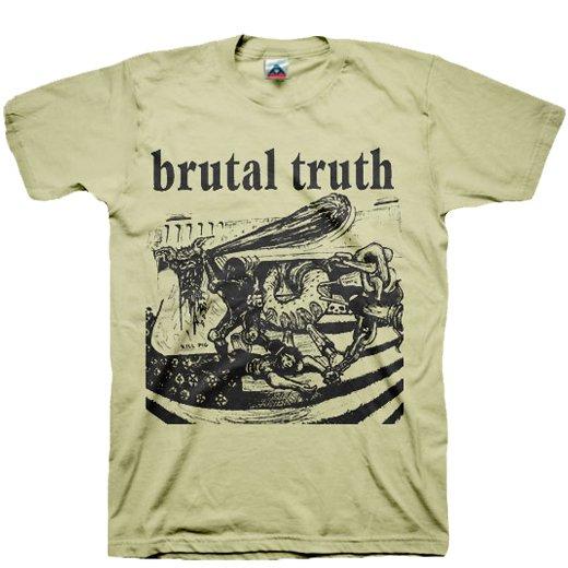 【お取寄せ】Brutal Truth / ブルータル・トゥルース - Kill Pig (Sand). Tシャツ