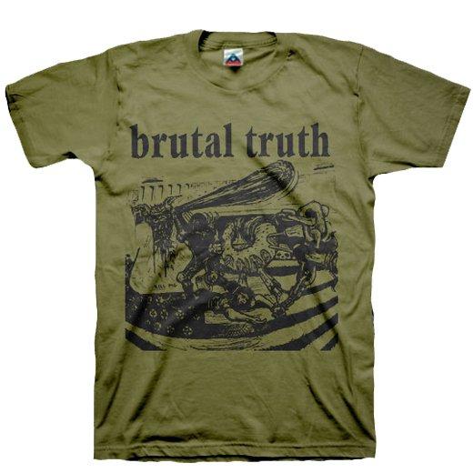 【お取寄せ】Brutal Truth / ブルータル・トゥルース - Kill Pig (Olive). Tシャツ