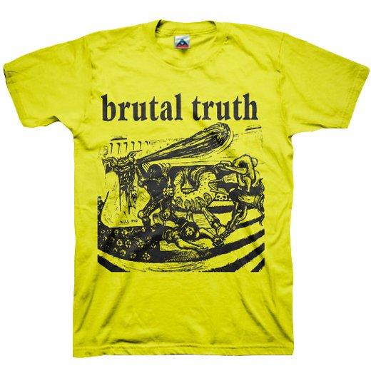 【お取寄せ】Brutal Truth / ブルータル・トゥルース - Kill Pig (Yellow). Tシャツ