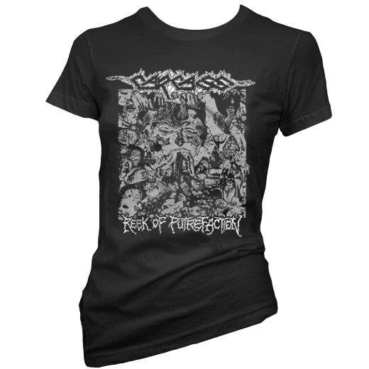 Carcass / カーカス - Reek Of Putrefaction. レディースTシャツ【お取寄せ】