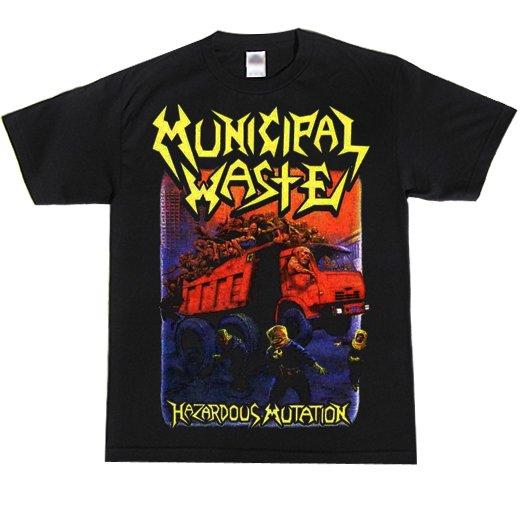 Municipal Waste / ミュニシパル・ウェイスト - Hazardous mutation (Black). Tシャツ【お取寄せ】