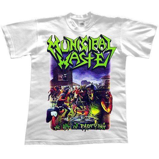 Municipal Waste / ミュニシパル・ウェイスト - The Art Of Partying (White). Tシャツ【お取寄せ】