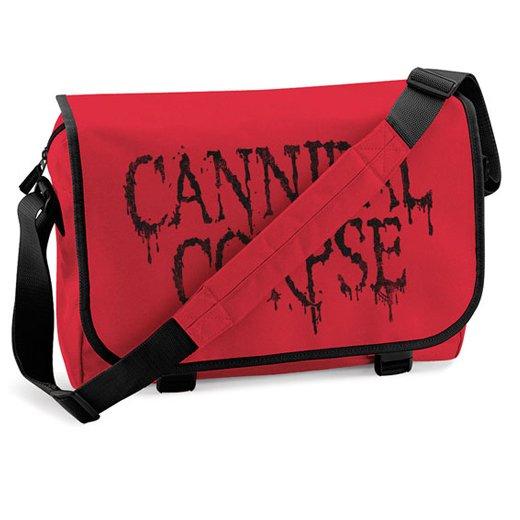 【お取寄せ】Cannibal Corpse / カンニバル・コープス - Red X Black Logo. メッセンジャーバッグ