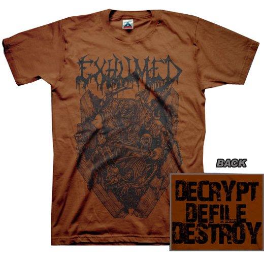 【お取寄せ】Exhumed / イグジュームド - Casket Crusher (Chocolate). Tシャツ