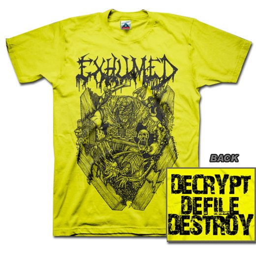 【お取寄せ】Exhumed / イグジュームド - Casket Crusher (Yellow). Tシャツ