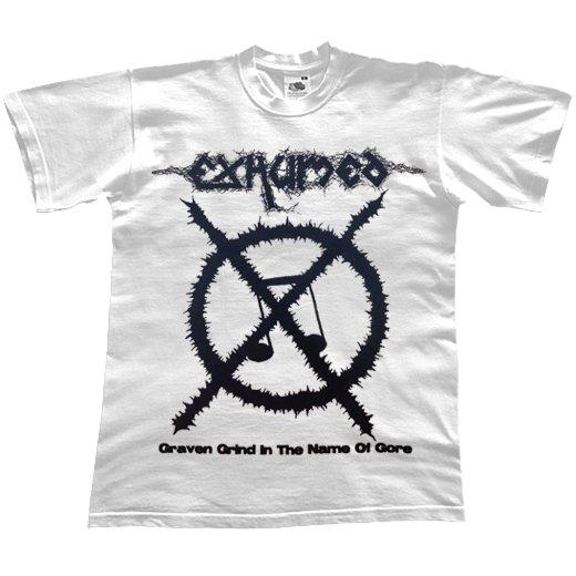 【お取寄せ】Exhumed / イグジュームド - Carcass Grinder (White). Tシャツ
