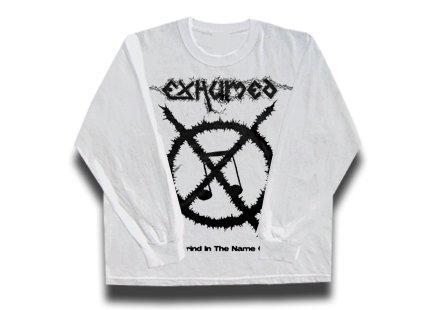 【お取寄せ】Exhumed / イグジュームド - Carcass Grinder (White). ロングスリーブTシャツ