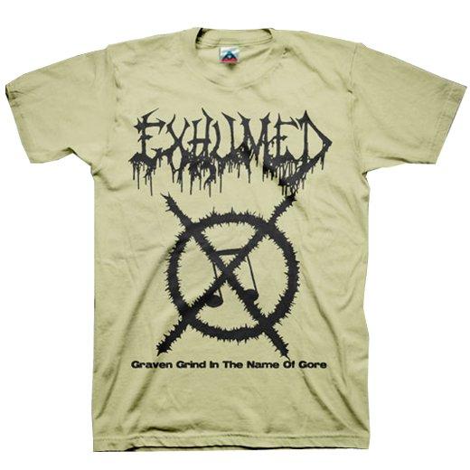 【お取寄せ】Exhumed / イグジュームド - Grind Symbol (Sand). Tシャツ