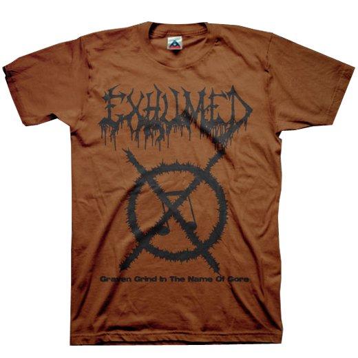 【お取寄せ】Exhumed / イグジュームド - Grind Symbol (Chocolate). Tシャツ