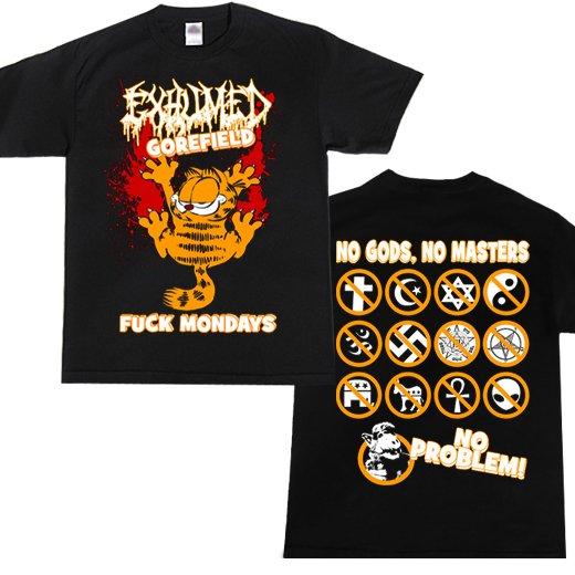 【お取寄せ】Exhumed / イグジュームド - Gorefield. Tシャツ