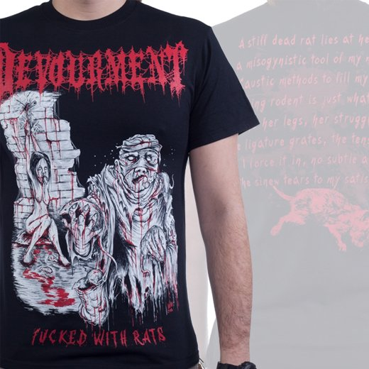 Devourment / ディヴァウアメント - Fucked With Rats. Tシャツ【お取寄せ】