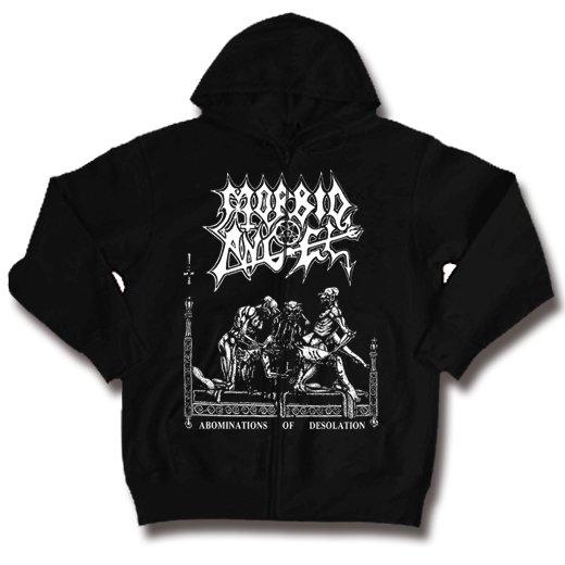 Morbid Angel / モービッド・エンジェル - Abominations Of Desolation. ジップアップパーカー【お取寄せ】