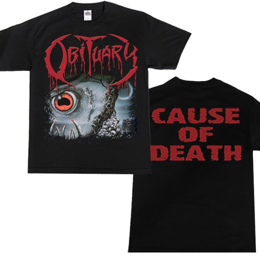 Obituary / オビチュアリー - Cause Of Death. Tシャツ【お取寄せ】