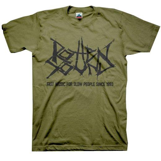 Rotten Sound / ロットン・サウンド - Fast Music (Olive). Tシャツ【お取寄せ】