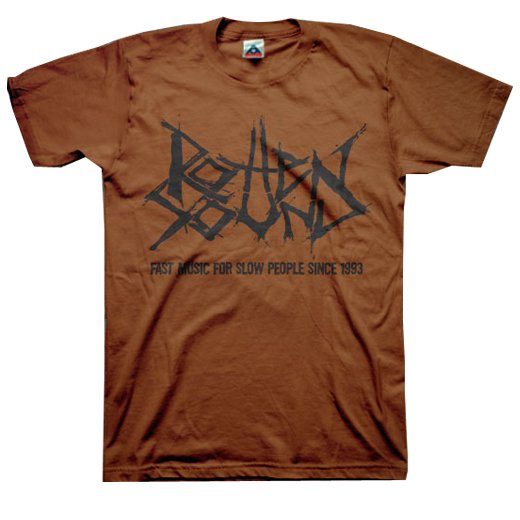 Rotten Sound / ロットン・サウンド - Fast Music (Chocolate). Tシャツ【お取寄せ】