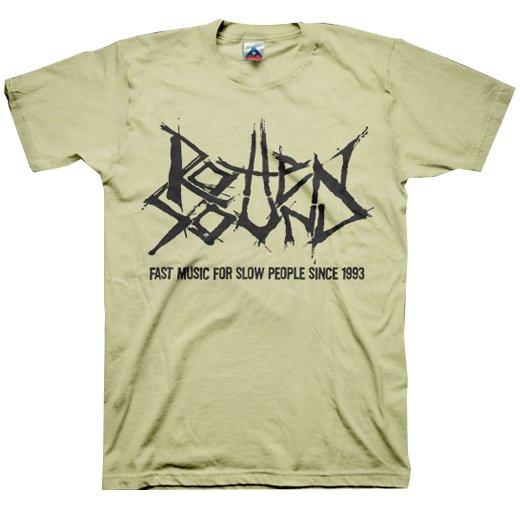 Rotten Sound / ロットン・サウンド - Fast Music (Sand). Tシャツ【お取寄せ】