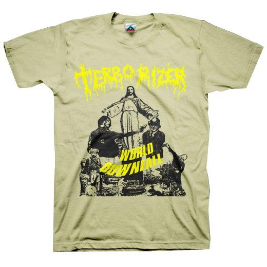 Terrorizer / テロライザー - World Downfall (Sand). Tシャツ【お取寄せ】