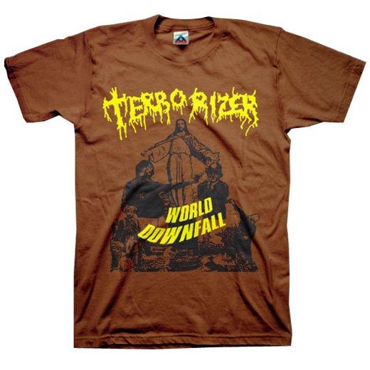 Terrorizer / テロライザー - World Downfall (Chocolate). Tシャツ【お取寄せ】