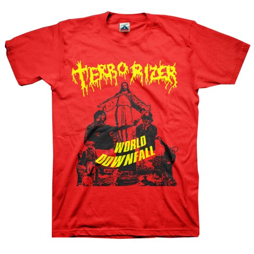 Terrorizer / テロライザー - World Downfall (Red). Tシャツ【お取寄せ】