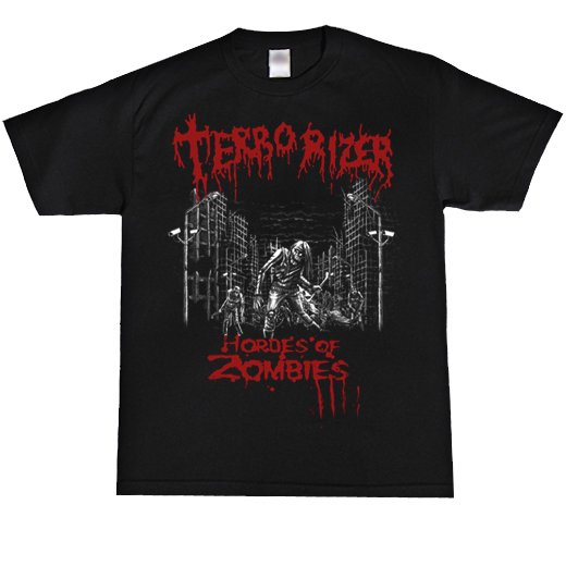 Terrorizer / テロライザー -Hordes of zombies. Tシャツ【お取寄せ】