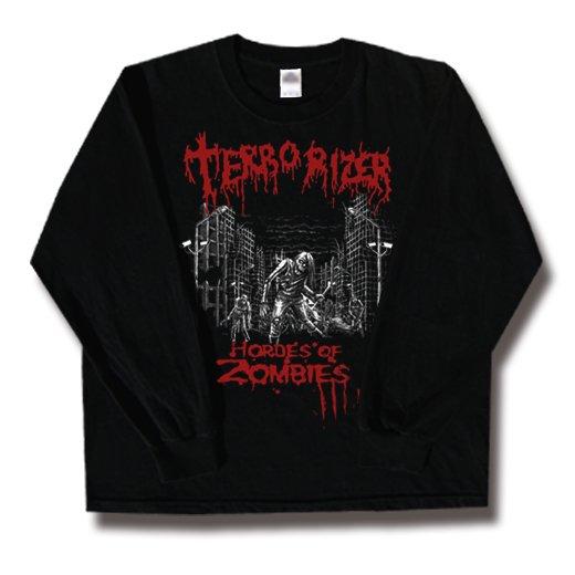 Terrorizer / テロライザー - Hordes of zombies. ロングスリーブTシャツ【お取寄せ】