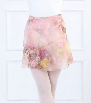 レディース巻きスカート【WILD SWAN】お花柄が可愛いWrap Skirt
