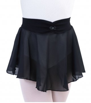 【カペジオ】  オーガンジー素材のスカート (ジュニアサイズ) バレエ