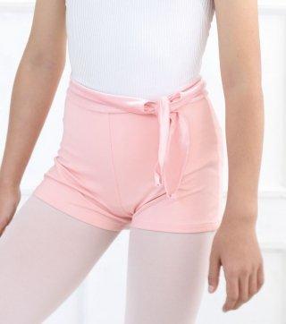 リボンが可愛いショートパンツ (キッズサイズ) バレエ