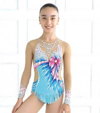 134-144cm [ロシア製] 新体操ジュニア競技用レオタード