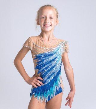 135-145cm [ロシア製] 新体操ジュニア競技用レオタード